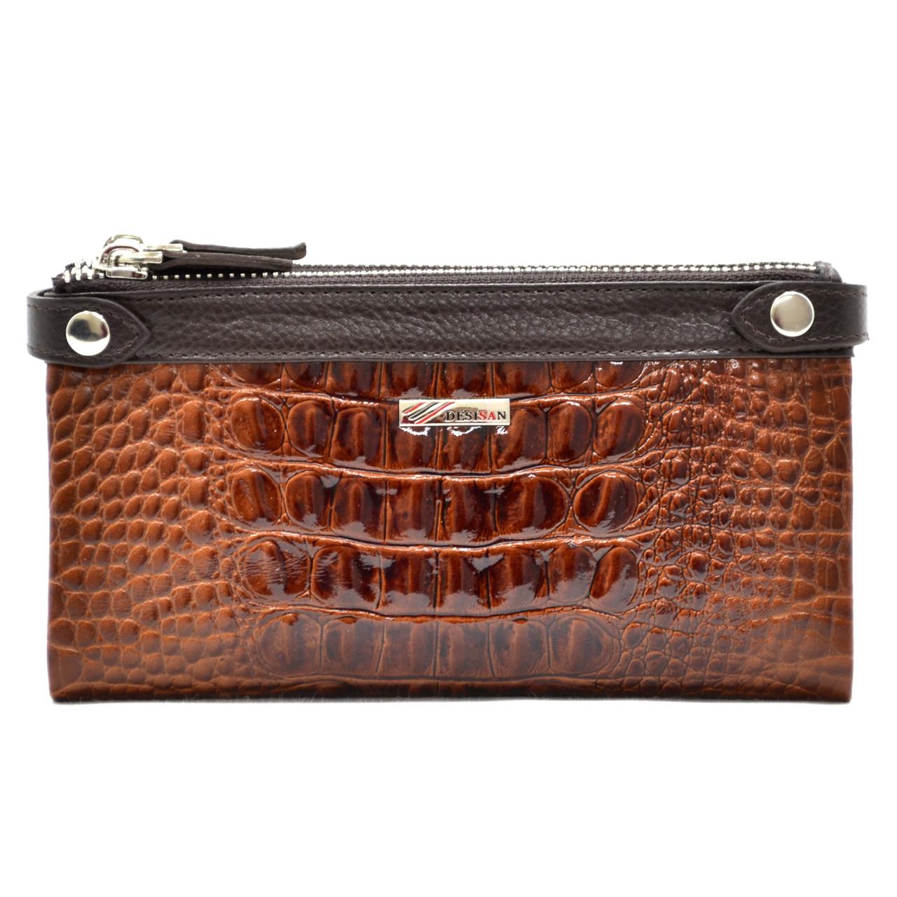 Кожаный женский кошелек-клатч Desisan