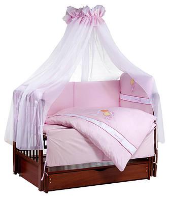 Детская постель TuttoLina Forever Together (7 элементов) 37 розовый (жирафы)