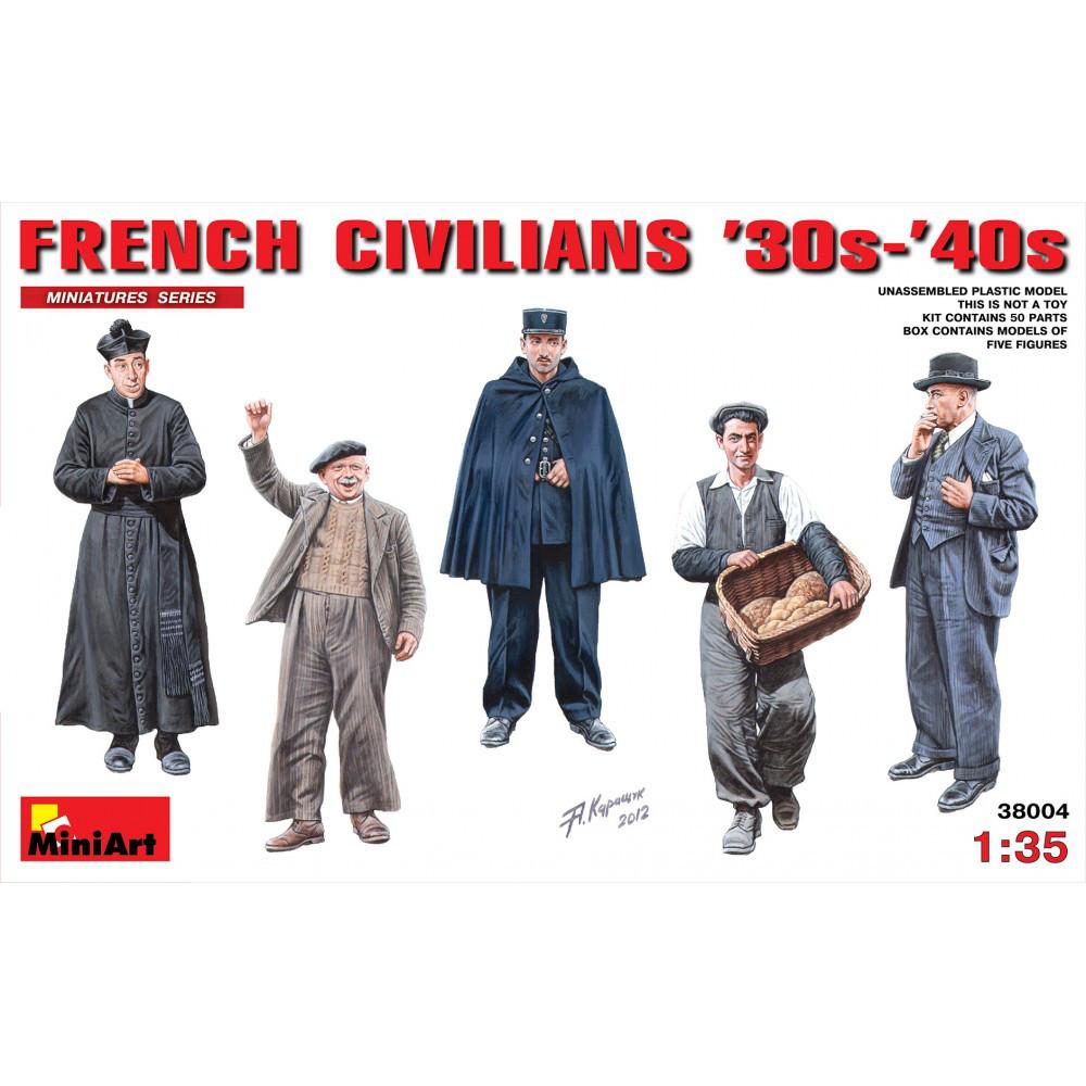 FRENCH CIVILIANS 30Г.-40Г. 1/35 MINIART 38004