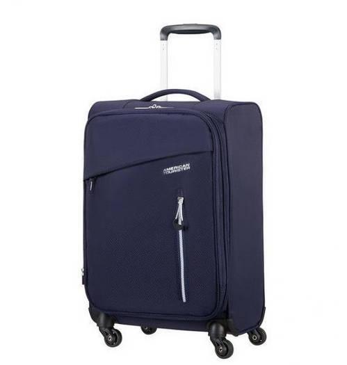 Маленький текстильный чемодан на 4-х колесах American Tourister Litewing
