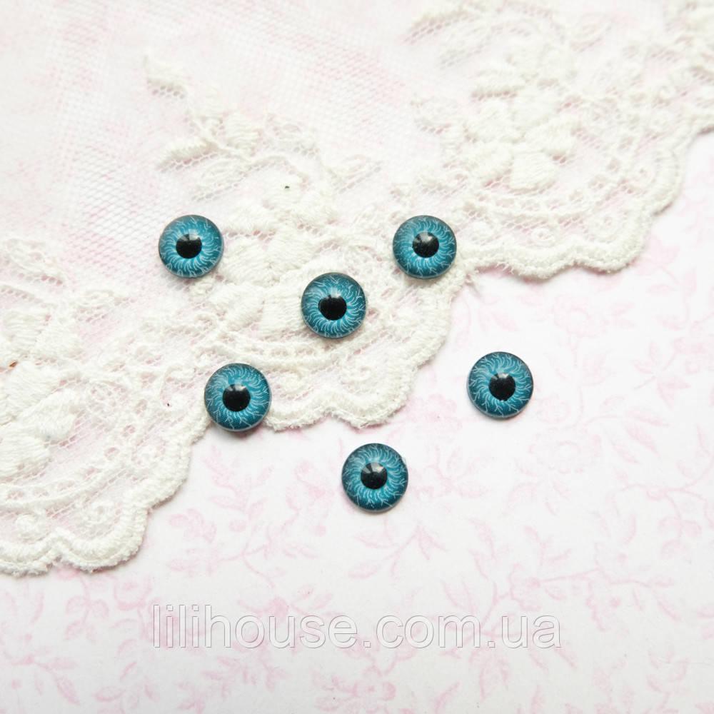 Глазки для кукол пластиковые, глазное яблоко, голубые - 8 мм