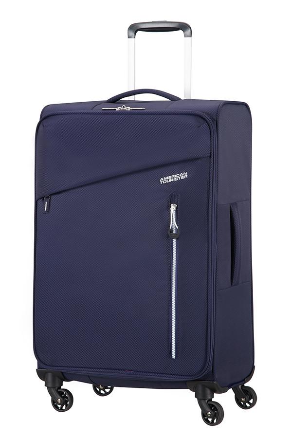 Средний текстильный чемодан на 4-х колесах American Tourister Litewing