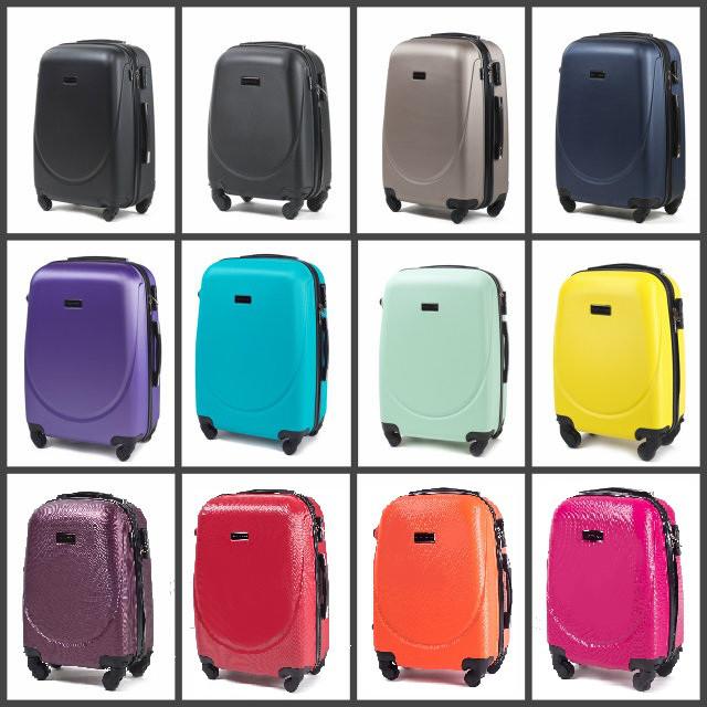 Дорожный чемодан на колесах WINGS 0912 с кодовым замком и выдвижной ручкой Небольшой