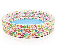 Детский надувной бассейн круглый для детей от 3 лет, 3 кольца,168 -41см, intex 56440
