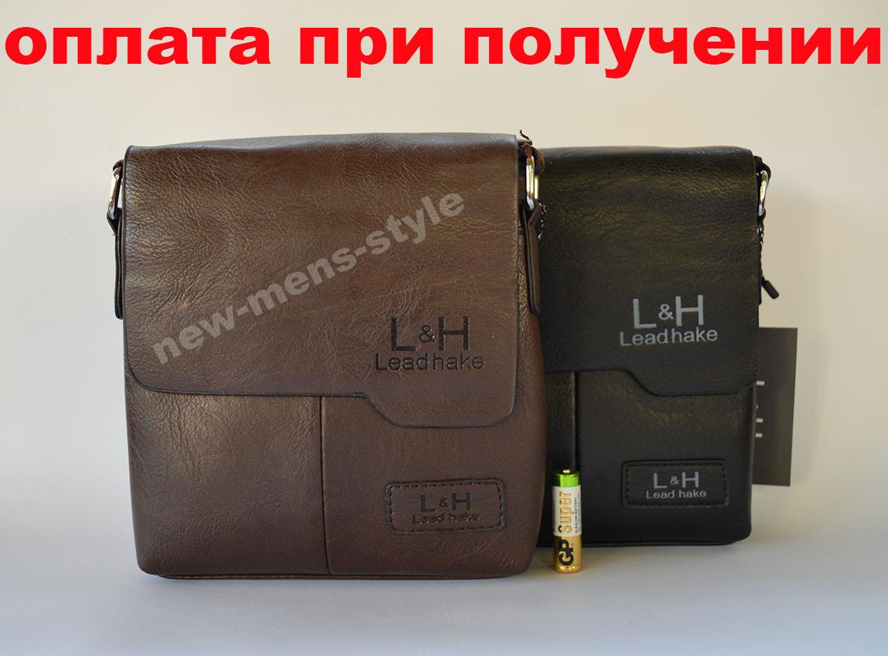 Мужская кожаная фирменная сумка барсетка Lead hake классика купить