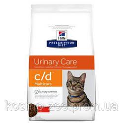 Лечебный корм для кошек Хиллс (Hill`s Feline c/d), здоровье мочеполовой системы , 1,5 кг