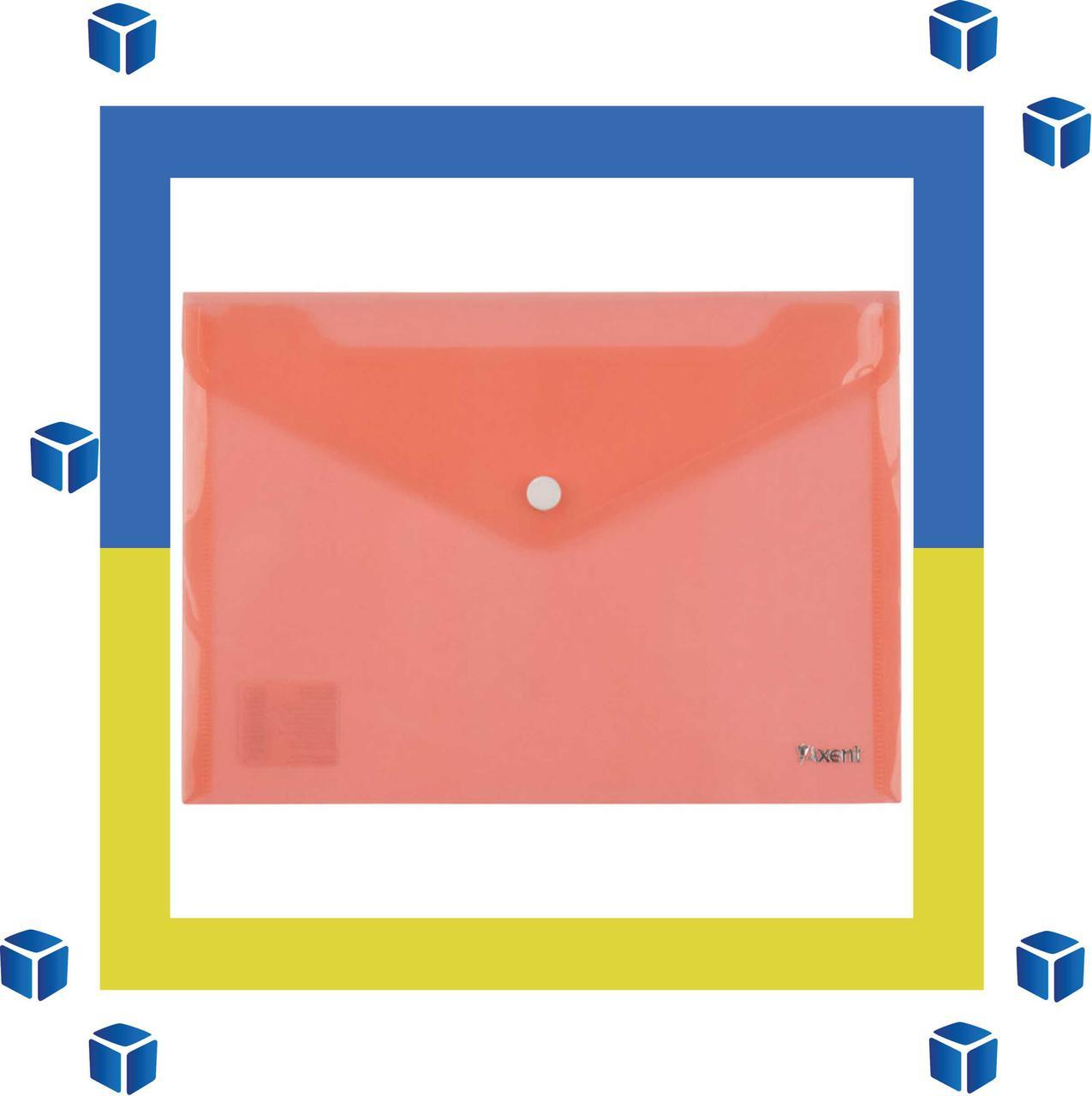 Папка-конверт Axent А5 красная