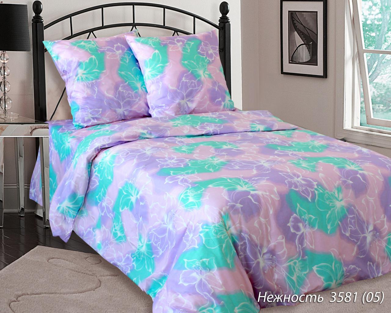 Комплект постельного белья евро НЕЖНОСТЬ Фиолетовая (нав. 70*70)
