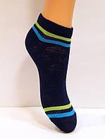 Детские хлопковые носки в сетку темно-синего цвета