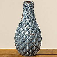 Ваза Чешуя с голубой керамики