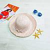 Шляпа розовая с розовым бантом в горох 502-02-2