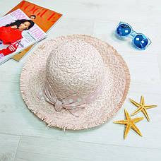 Шляпа розовая с розовым бантом в горох 502-02-2, фото 3