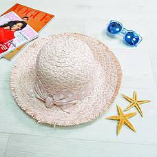 Шляпа розовая с розовым бантом в горох 502-02-2, фото 2