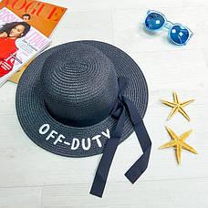 "Шляпа чёрная ""Off - Duty"" 502-04-1, фото 3"