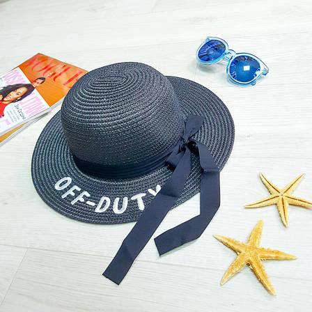 "Шляпа чёрная ""Off - Duty"" 502-04-1, фото 2"