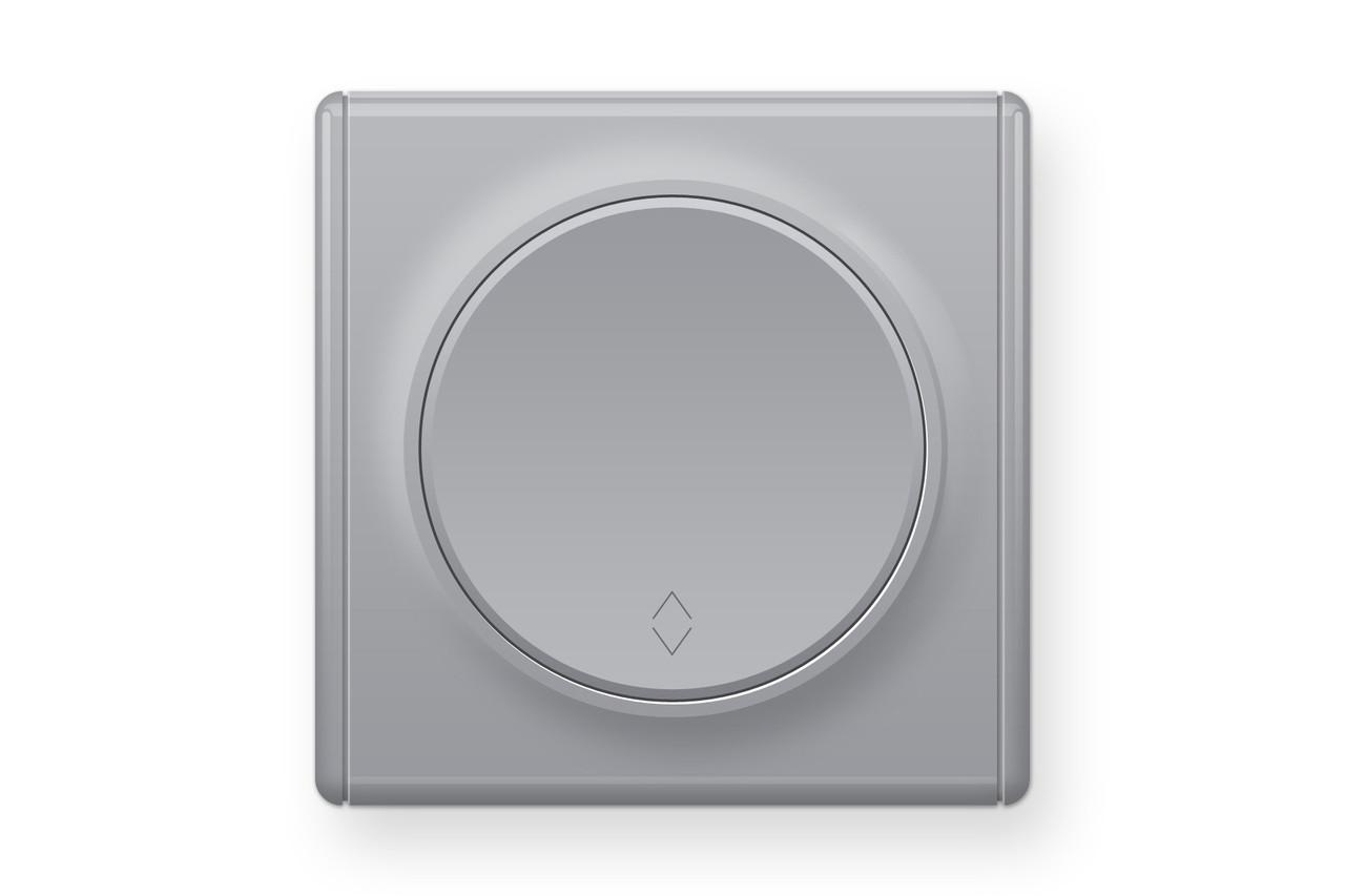 Перемикач одинарний, колір сірий (серія Florence), фото 1