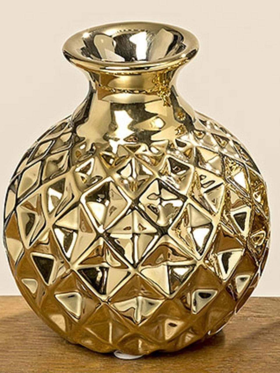 Супер прикольная ваза золотистая