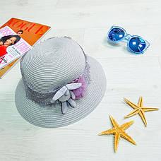 Шляпа детская с зайчиком серая 502-05-2, фото 3
