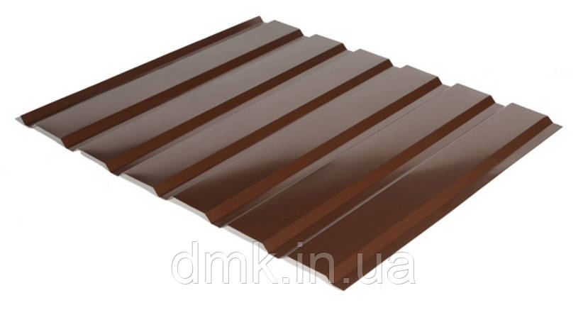 Профнастил С-18 RAL 8017 (коричневый) PE 0.45 фасад
