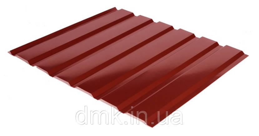 Профнастил С-18 RAL 3011 (красный) PE 0.45 фасад