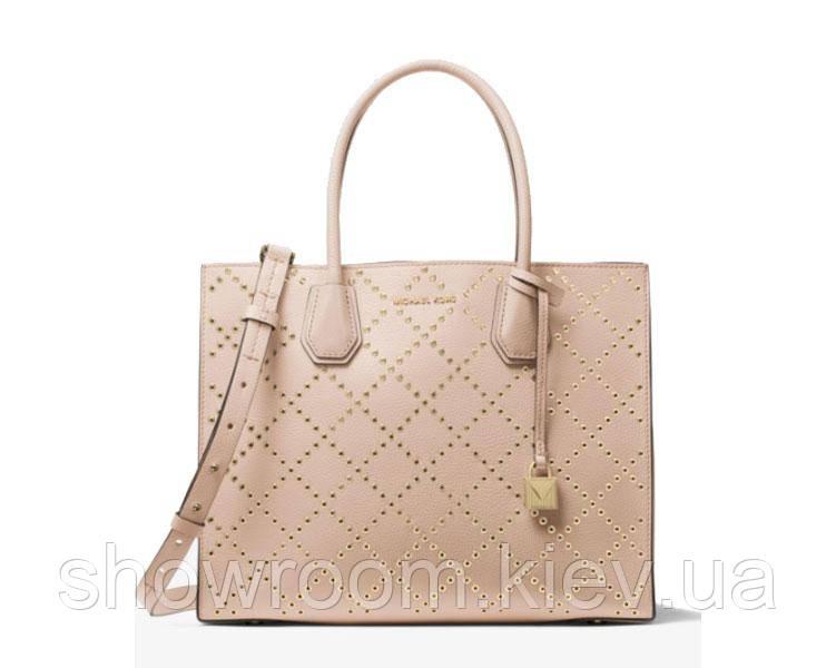Женская сумка в стиле Michael Kors Mercer Grommeted big rose