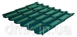 Металлочерепица Rauni RAL 6005 (зелёная) PE 0,45 Standart