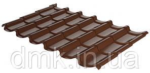 Металлочерепица Rauni RAL 8017 (коричневая) PE 0,45 Mini
