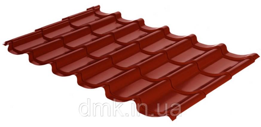Металлочерепица Rauni RAL 3011 (красная) PE 0,45 Mini