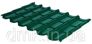 Металлочерепица Rauni RAL 6005 (зелёная) PE 0,45 Mini