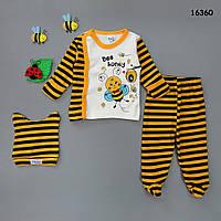 """Набор на выписку """"Пчелка"""" для малыша, 3 предмета. 0-3 мес, фото 1"""