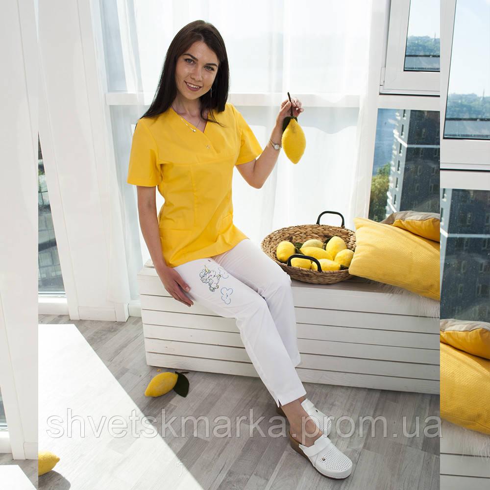 b8426273621 Медицинские джинсы с вышивкой