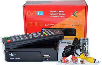 Тюнер Т2 приставка uClan T2 HD SE в пластике, ИНТЕРНЕТ, звук AC3,1USB