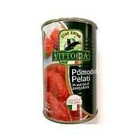 Помидоры очищенные Vittoria Pomodori Pelati в собственном соку ж/б 400г