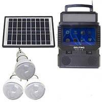 Портативна сонячна станція ліхтар+телевізор TV FM GDLite GD 8086, фото 1