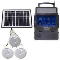 Портативна сонячна станція ліхтар+телевізор TV FM GDLite GD 8086