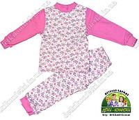 Пижама Бабочки розовые, с легким начесом