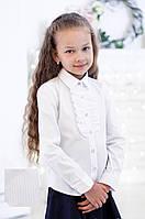 Школьная блузка белая в белую полоску мод.5022 140