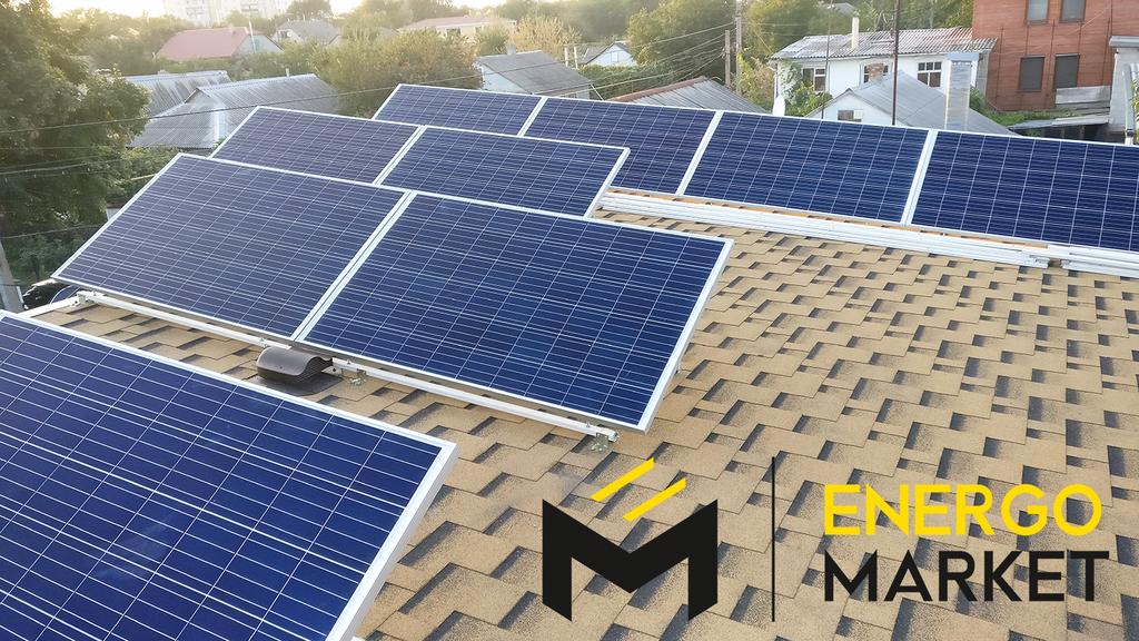 Солнечная станция 10 кВт под зелёный тариф, Одесса, Фонтанка