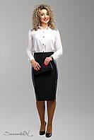 Красивая юбка карандаш, в строгом черном цвете, р.50,54 код 3103М