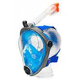 Маска Полнолицевая для плавания и ныряния Aqua Speed Spectra (original) сине-черная, комплект с трубкой