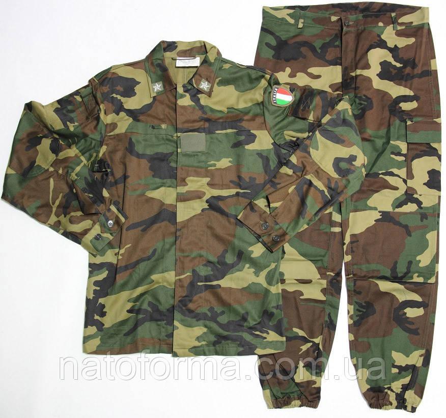 Летний комплект армии Италии, Woodland, оригинал (китель, брюки, кепка)