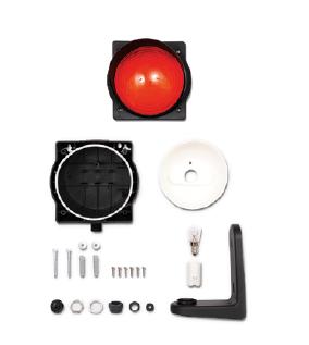 Светофорная лампа AN-Motors красная