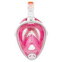 Маска Полнолицевая для плавания и ныряния Aqua Speed Spectra (original) розовая, комплект с трубкой, фото 1