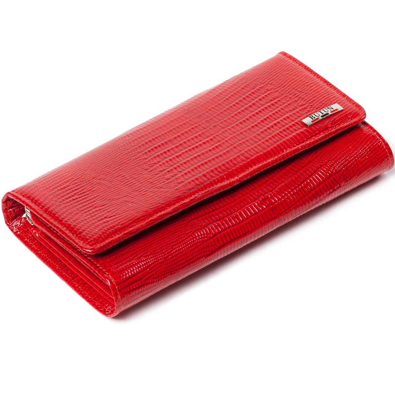 Женский кошелек кожаный красный BUTUN 555-005-006