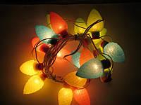 Необычная гирлянда на ёлку «лесная сказка», электрическая, ламповая, 18 шишек разных цветов, питание 220в, фото 1