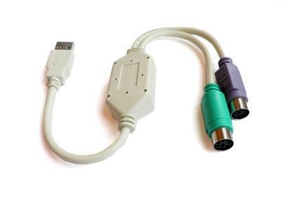 Сплиттер USB на 2 порта PS/2 для клавиатуры и мыши