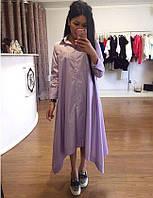 Женское стильное платье из штапеля