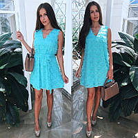 Женское стильное платье шифон с ресничками