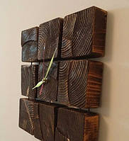 Часы на стену из бруса сосны