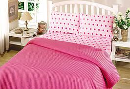 Пике двухспальное летнее постельное белье Perlay Fusya
